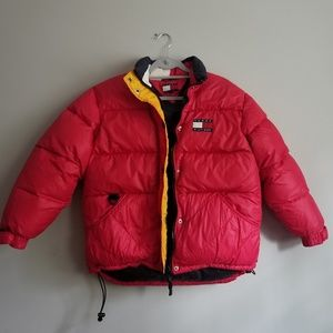 Vintage Tommy Hilfiger Red Puffer Jacket